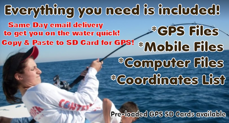 GPS Fishing Maps all inclusive Products