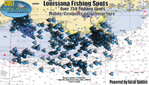 Louisiana Fishing Spots by GPS Fishing Maps